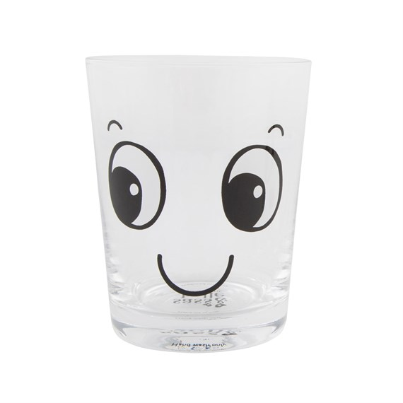 Smiling Fun Face Glass Tumbler