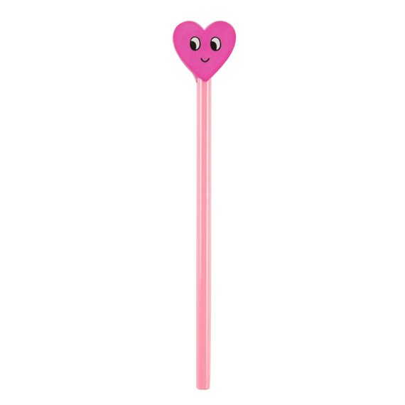 Flirty Heart Pencil With Eraser