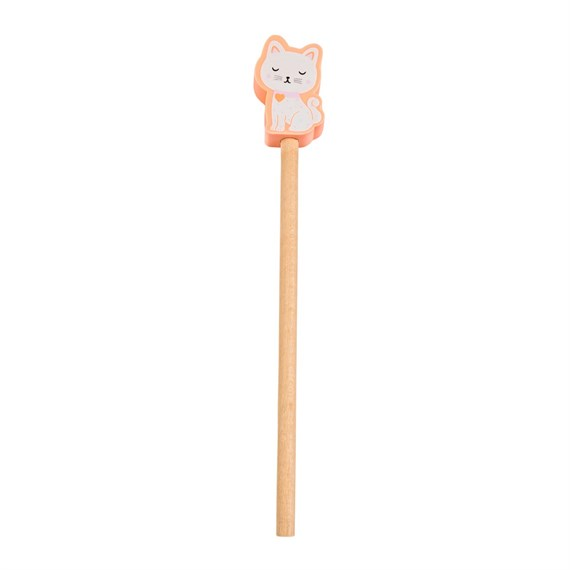 Cutie Cat Pencil With Eraser Topper