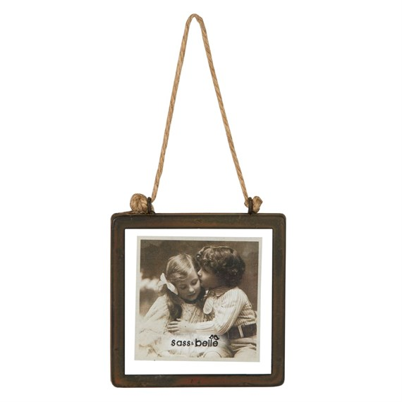 Industrial Finish Square Hanging Photo Frame