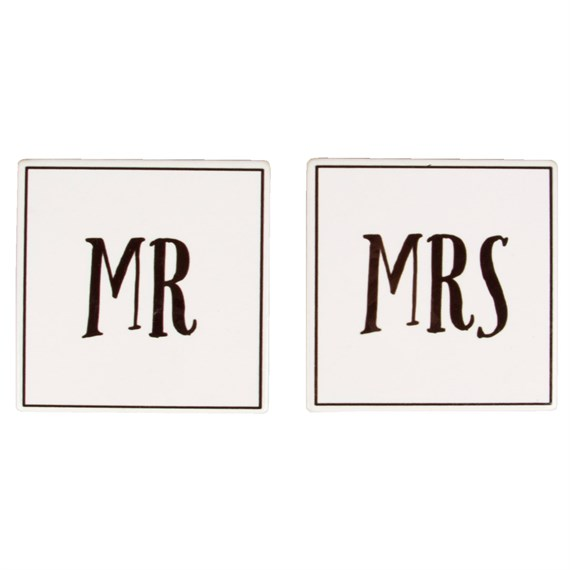 Set of 2 Mr & Mrs Coasters