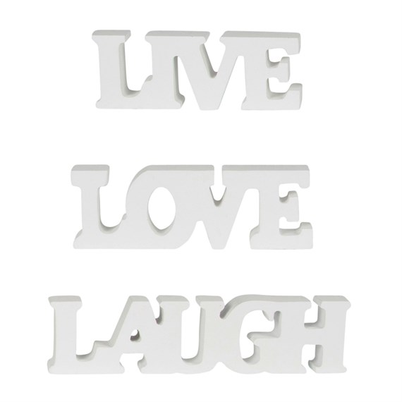 Small Love Live Laugh Letters Cream