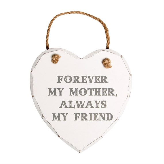 Forever My Mother Heart Plaque