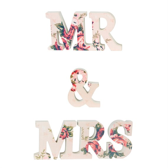Mr & Mrs Floral Lady Antoinette Letter