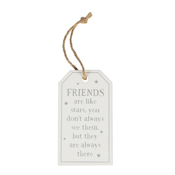 Friends Are Like Stars Tag Decoration