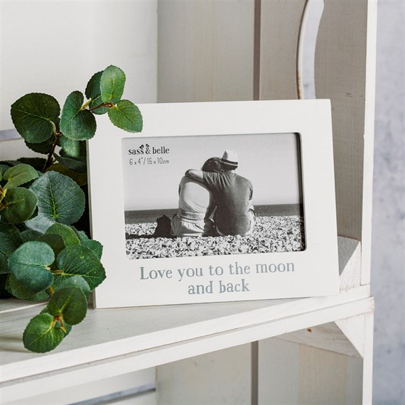 Love You to the Moon & Back Photo Frame White