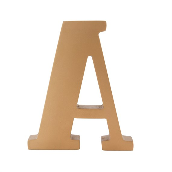 Gold Wooden Letter A Standing Decoration