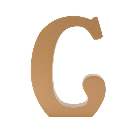 Gold Wooden Letter C Standing Decoration