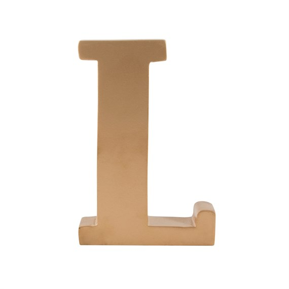 Gold Wooden Letter L Standing Decoration