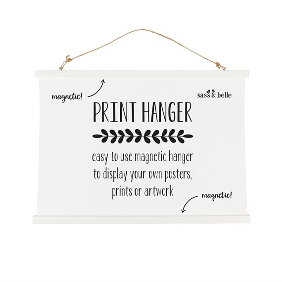 White Magnetic Poster Hanger Large