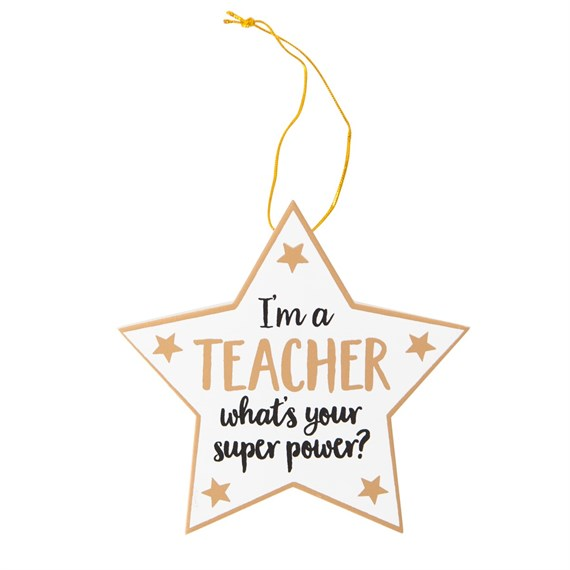 Teacher Superpower Star Plaque