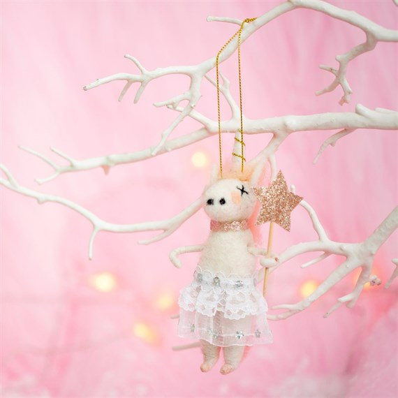 Wonderland Tutu Unicorn Hanging Felt Decoration