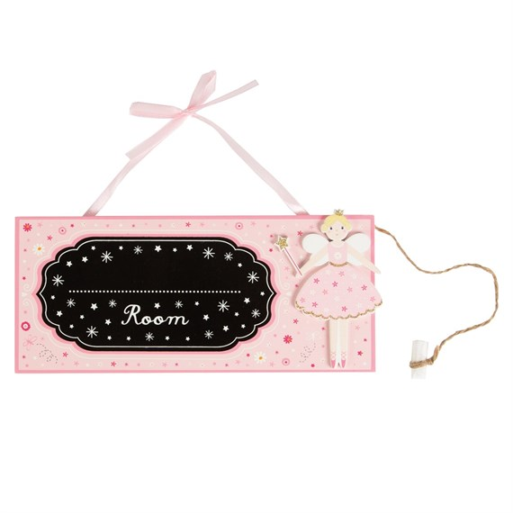 Fairy Wishes Room Chalkboard Hanging Sign