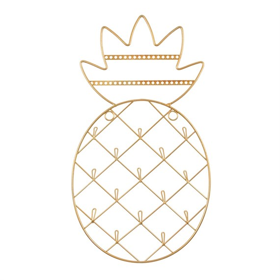 Gold Pineapple Wall Mounted Jewelry Holder
