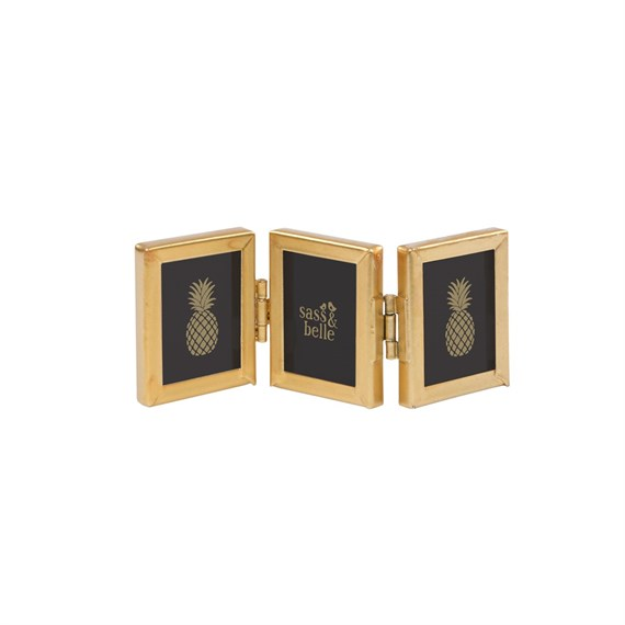 Touch of Gold Mini Triple Photo Frame