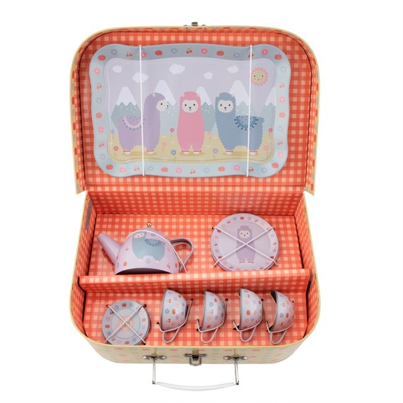 Little Llama Picnic Box Tea Set