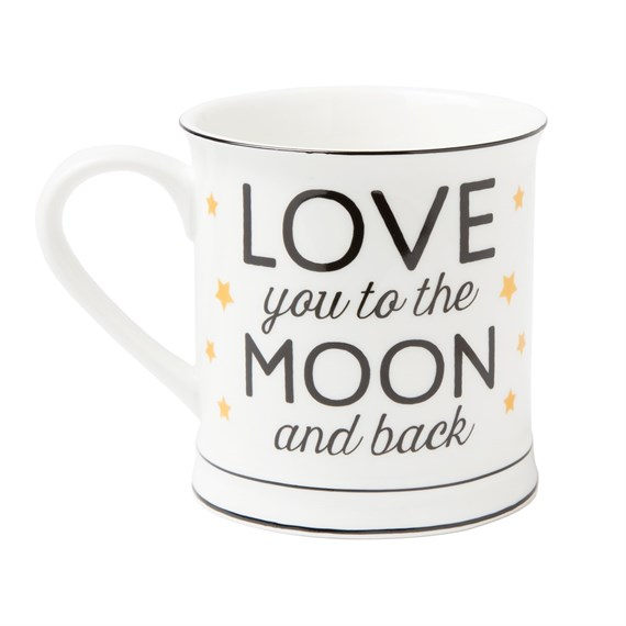 Love You to the Moon & Back Golden Stars Mug