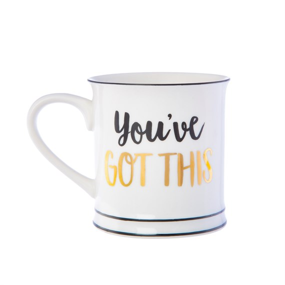 Metallic Monochrome You've Got This Mug