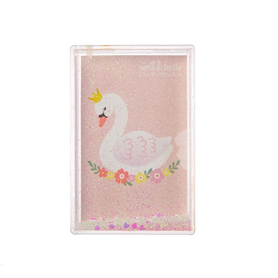 Freya Swan White Heart Confetti Photo Frame