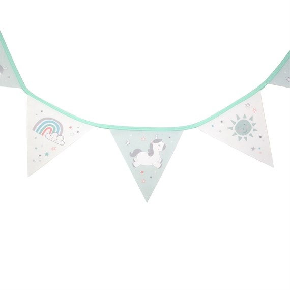 Evie Unicorn Fabric Bunting