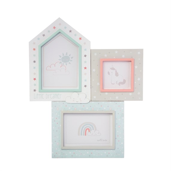 Evie Unicorn Three Multi Photo Frame