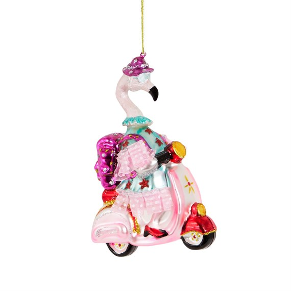 Scoot Scoot Granny Flamingo Shaped Bauble