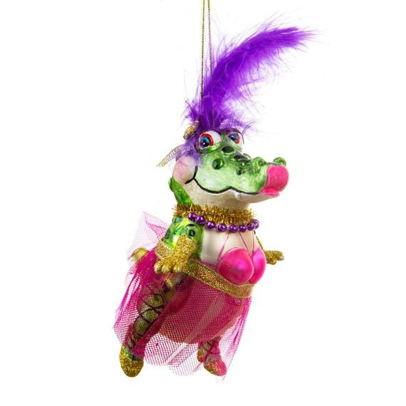 Tutu Alligator Shaped Bauble