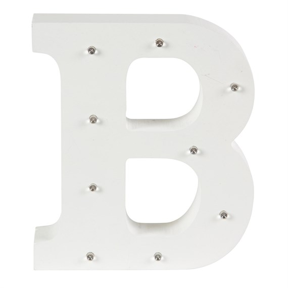 Alphabet LED Light Decoration Letter B
