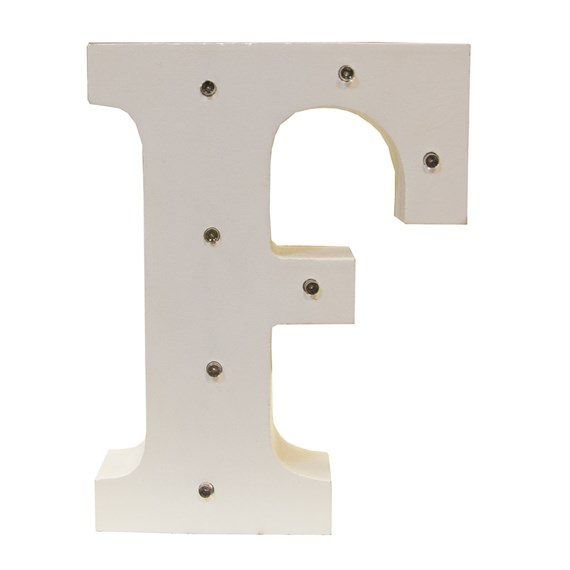 Alphabet LED Light Decoration Letter F