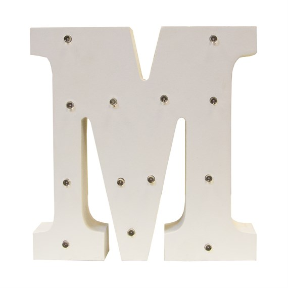 Alphabet LED Light Decoration Letter M