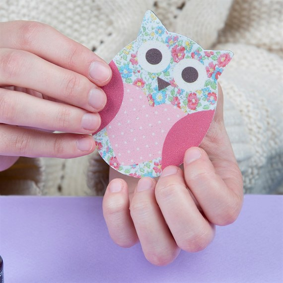 Owl Floral Nail File