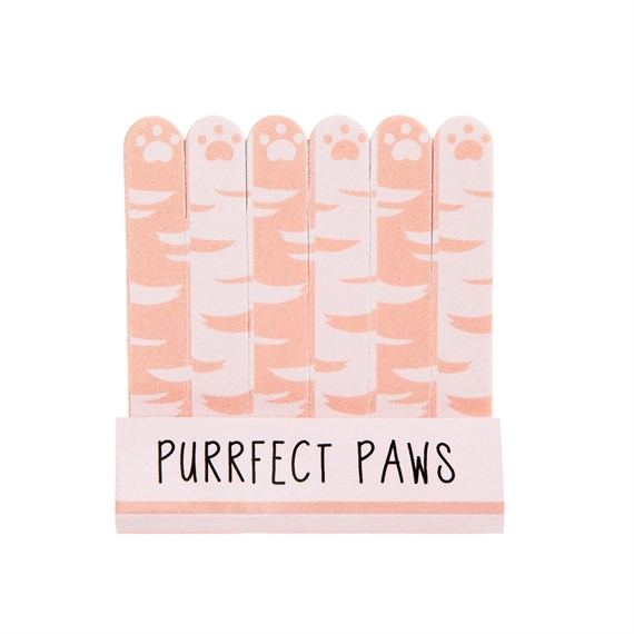 Set of 6 Cutie Cat Purrfect Paws Nail Files