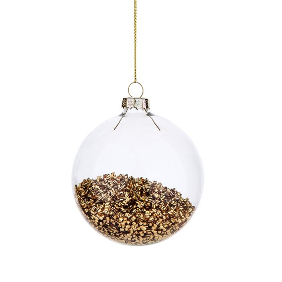 Metallic Gold Beads Bauble