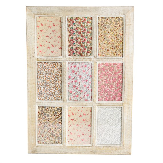 Wooden Window Frame Wall Decor : Window multi photo frame rustic wood white