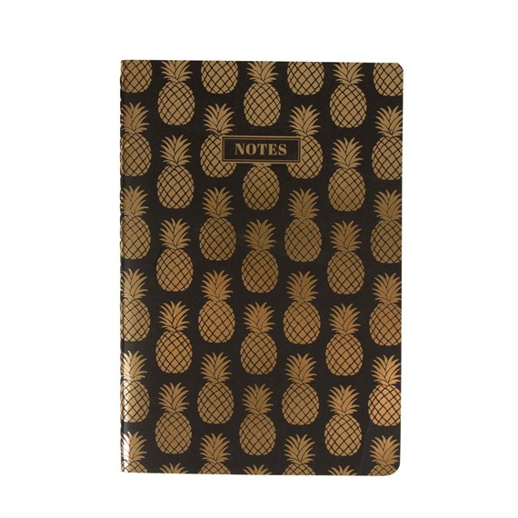 Gold Pineapple Notebook