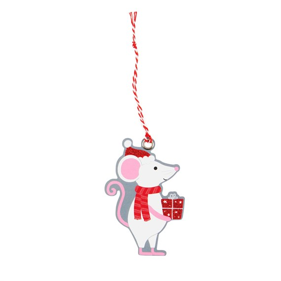 Christmas Gifting Mouse Gift Tags - Set of 6