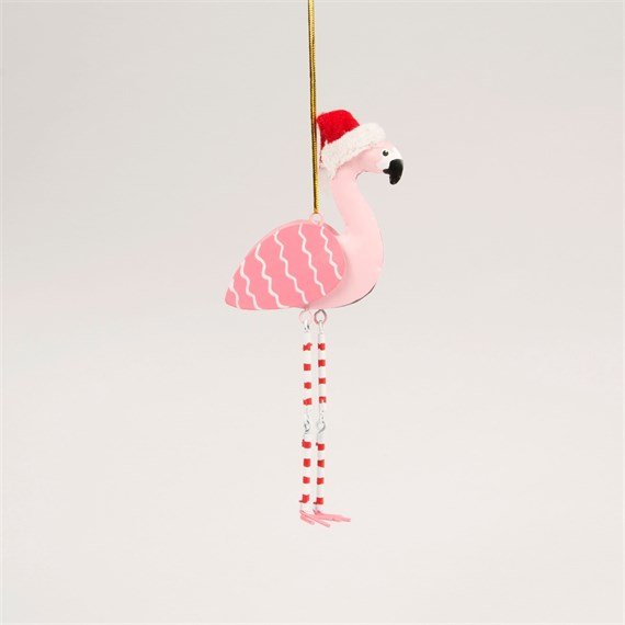 Festive Flamingo Hanging Decoration