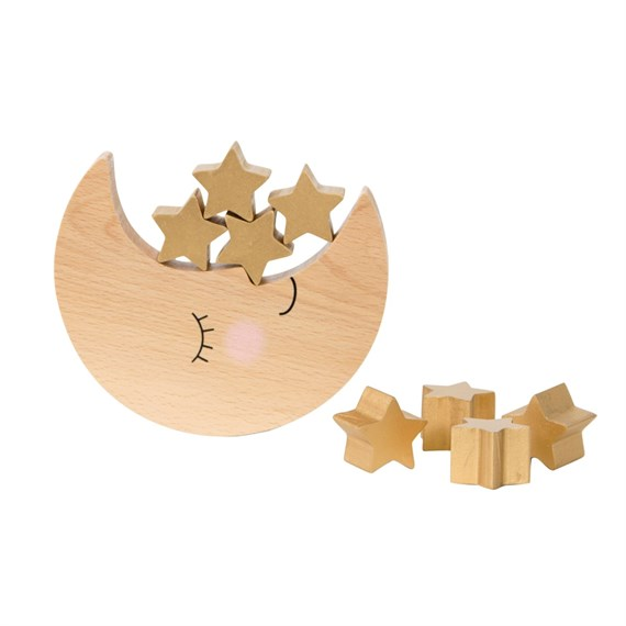 Sweet Dreams Moon & Stars Wooden Balancing Game