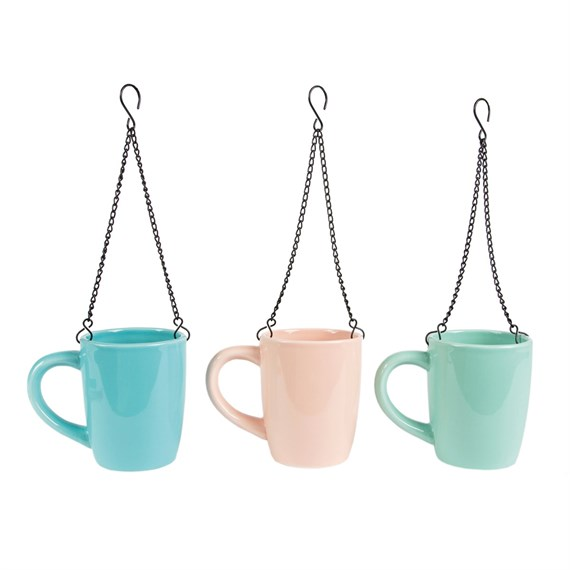 Pretty Pastel Hanging Mug Vase  (options available)