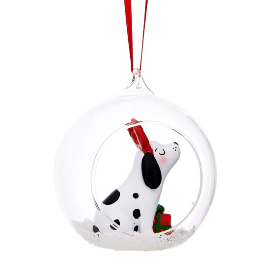 Barney the Dog Open Bauble