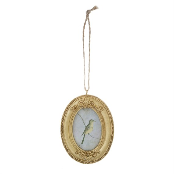 Oval Gold Mini Hanging Photo Frame