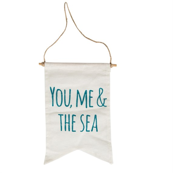 You, Me & the Sea Message Flag