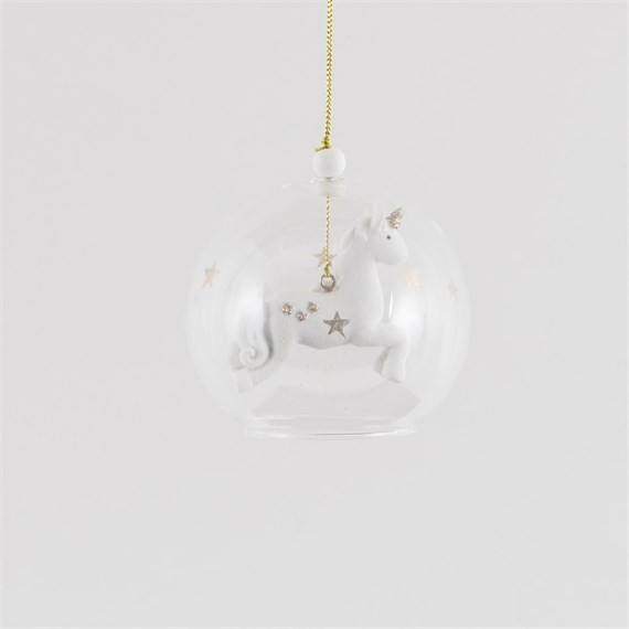 Floating Gold Star Unicorn Bauble