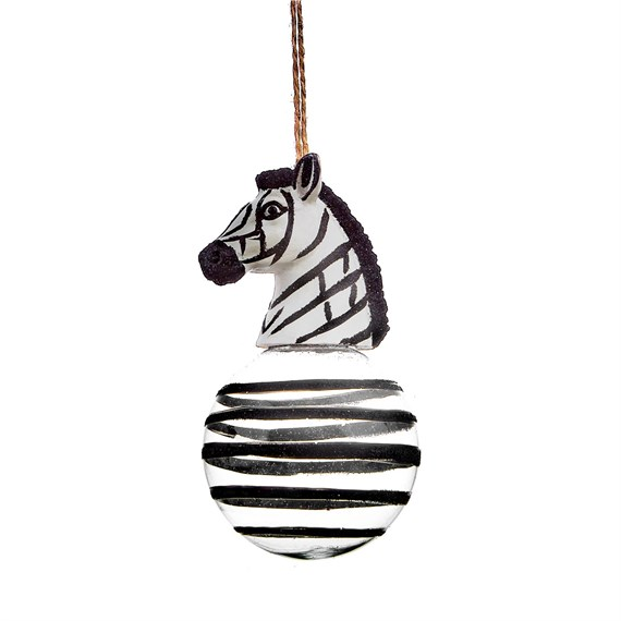 Luxe Zebra Head Bauble