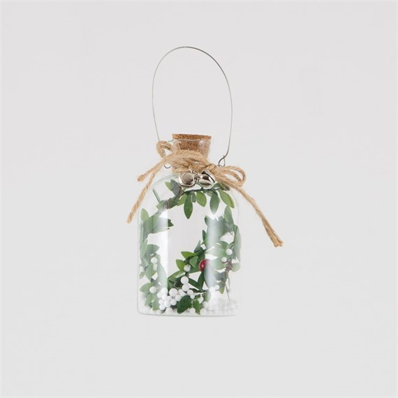 Rustic Berry Branch Bottle Decoration