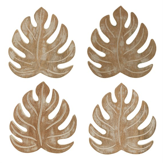 Wooden Cheese Plant Coasters - Set of 4