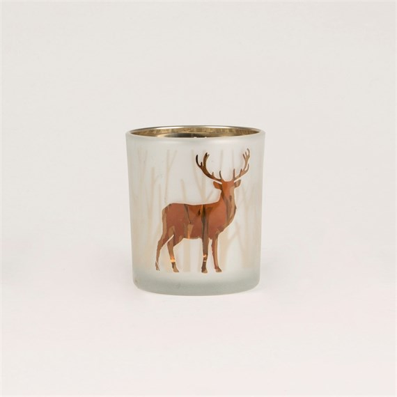 Copper Stag Tealight Holder