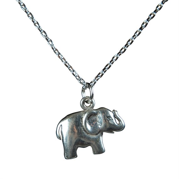Never Forget Elephant Necklace