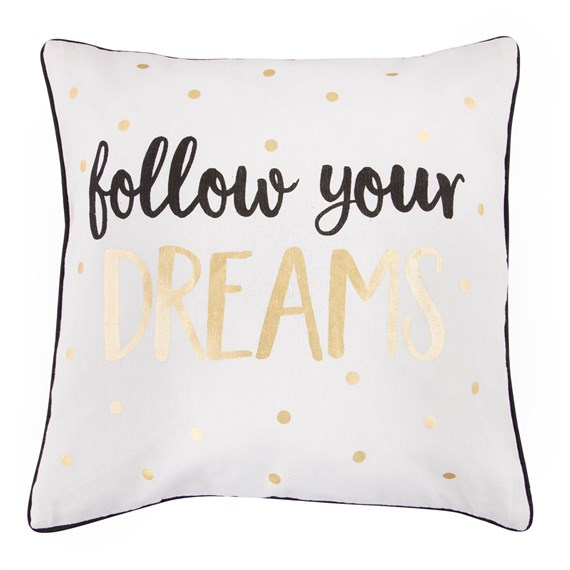 Dreams Metallic Monochrome Cushion