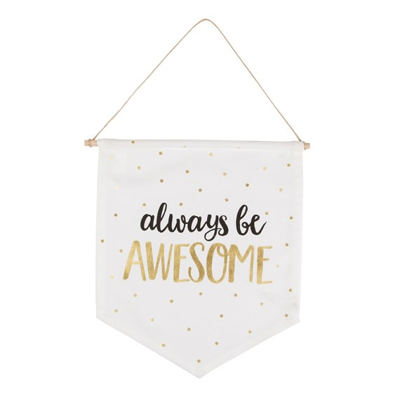Metallic Monochrome Awesome Message Flag